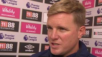 Bournemouth 0-0 Southampton: Back-to-back clean sheets a positive - Eddie Howe