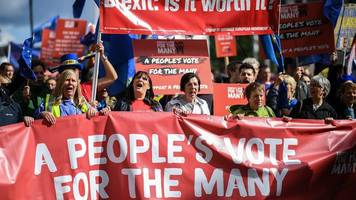 people's vote march: thousands expected for london protest