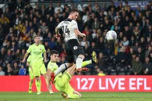 derby county player ratings: jack marriott's 'classy finish' earns him star man