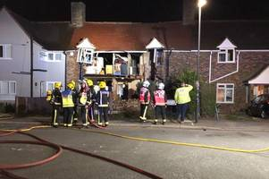 Front of South London house destroyed in explosion which caused evacuation