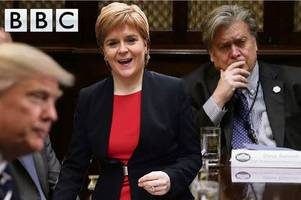 nicola sturgeon pulls out bbc event after 'racist' donald trump strategist steve bannon invited