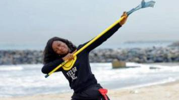One Nigerian woman's mission to save Lagos beaches and turtles from plastic