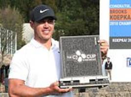 brooks koepka is the new world no 1 after four-stroke win at the cj cup