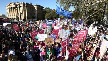people's vote protest and other mass marches - from iraq to tuition fees