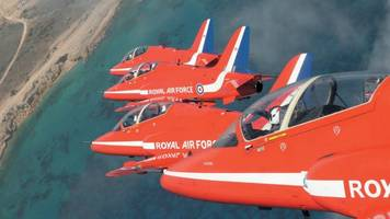 raf scampton's red arrows set for north america tour