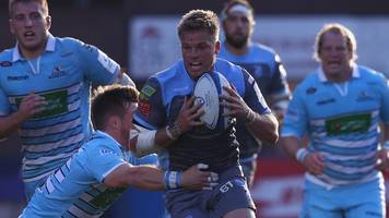 gareth anscombe: cardiff blues fly-half criticises euro kit clash with glasgow