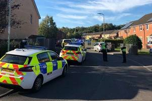 hunt for suspects and one arrested in connection with alleged stabbing in caerphilly