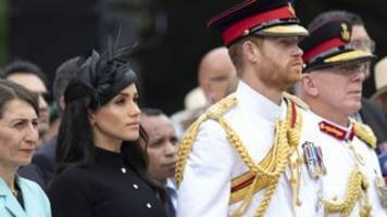 harry urges meghan to 'pace herself' during tour