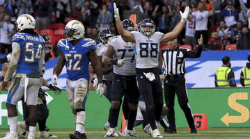 Watch: Chargers Escape London With Win Over Titans With Stop on Two-Point Conversion