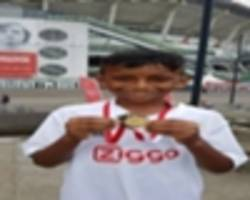 "meet krishav ram, winner of the ""goal of the month"" competition organised by jssl and goal.com"