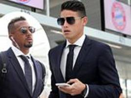 james and co look the part as bayern munich set off for champions league game against aek athens