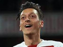 'I think we played some sexy football tonight!': Mesut Ozil hails Arsenal display against Leicester