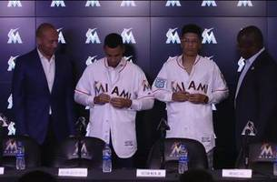 Meet the newest members of the Miami Marlins: Victor Victor Mesa and Victor Mesa Jr.