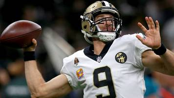 saints quarterback brees hits two landmarks - nfl week seven round-up