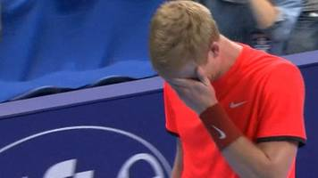kyle edmund in tears after beating gael monfils at european open