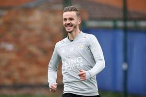 leicester city will go to arsenal in positive mood, says james maddison