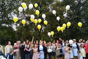 nhs workers release balloons in memory of 'murdered' midwife samantha eastwood