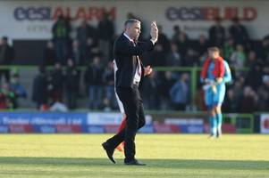 every word of cheltenham town manager michael duff's interview ahead of oldham athletic away on tuesday night