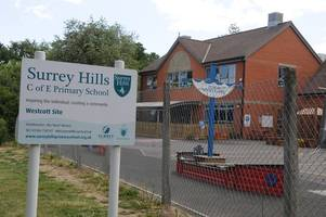 surrey county council and surrey hills school 'too slow to share info about teacher allegation'