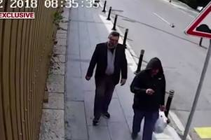 Missing Saudi journalist Jamal Khashoggi's 'body double' caught on CCTV wearing his clothes and fake beard leaving consulate