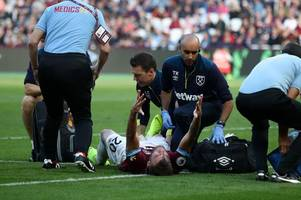 yarmolenko, wilshere, obiang - latest west ham injury news and expected return dates
