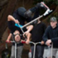 pro us scooter rider cody flom pulls spectacular aerial tricks for auckland audiences