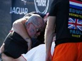 heartwarming moment invictus competitor comforts a veteran whose ptsd was triggered by a helicopter
