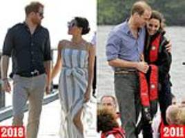 meghan markle's foreign debut has brought screaming fans and a lot of designer dresses