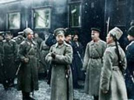 New colour images of Russian Revolution including Lenin and Tsar Nicholas II