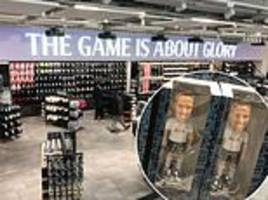 tottenham open europe's largest club shop as supporters finally get a glimpse of the new stadium