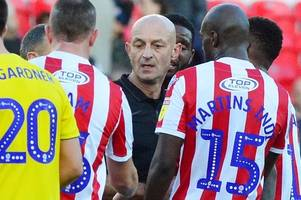 Stoke City boss banished to the stands tonight after accepting FA touchline ban and fine