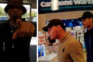 cctv released following 'armed' daylight raid at currys pc world