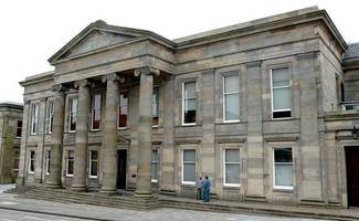 man admits ploughing car into fence on road on the outskirts of newmains