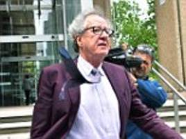 oscar-winning actor geoffrey rush cross examined by barrister at his defamation trial