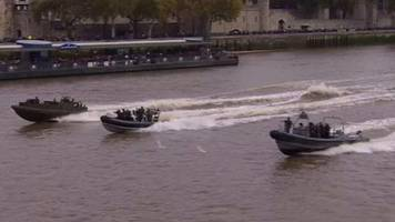 war games: marines take to the thames in combat exercise with dutch navy