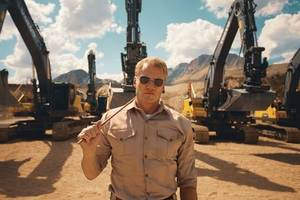 watch how a hollywood action hero gives volvo excavators the boot camp treatment