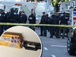 total containment vessel nypd bomb squad broke out to haul pipe bomb