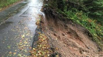 landslip road near merthyr to be closed for 4 months