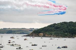 the red arrows will not perform anywhere in cornwall or isles of scilly in 2019