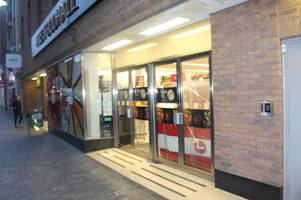 brazen vandals smash marks & spencer windows while it is still open in latest attack in town