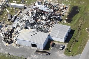 without power and living in tents: florida panhandle struggles after michael