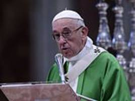 pope francis urges action against people who try to taint catholic church with abuse allegations