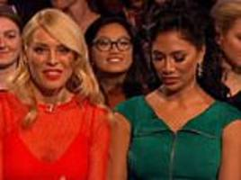 strictly fans desperate to know what nicole scherzinger 'angrily' muttered to tess daly on live show