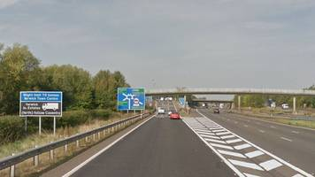 car passenger arrested over m40 crash