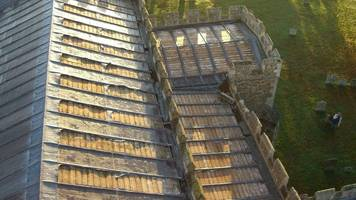 gamlingay church lead theft left roof 'open to the sky'