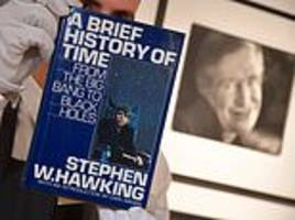 stephen hawking's prized possessions go up for auction