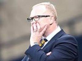 alex mcleish facing striker crisis with leigh griffiths and steven naismith both out