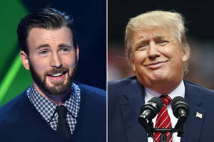 chris evans compares trump to dog poo, has twitter barking with laughter
