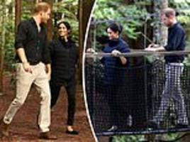 meghan markle and prince harry royal tour: couple explore redwood forest in new zealand
