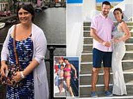 obese mother loses a whopping eight stone in less than a year to wear dream wedding dress